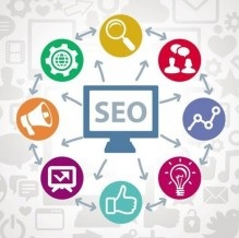 seo tools and ideas in a circle