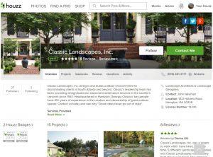 Houzz home page screenshot