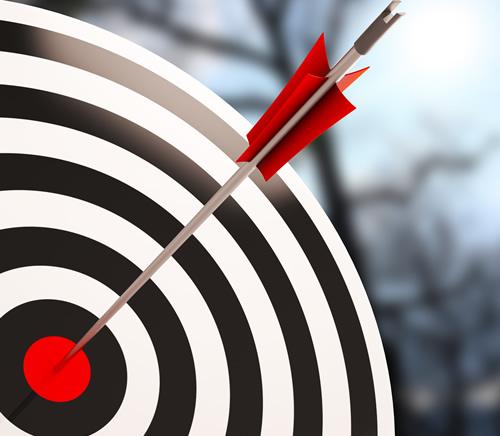 arrow hitting target bullseye