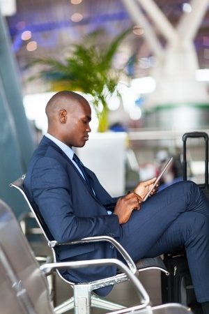 Businessman Tablet Airport
